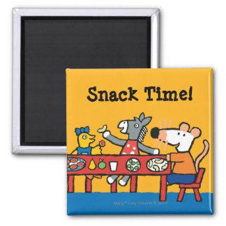Imã Tempo pré-escolar de Maisy e de petisco dos amigos