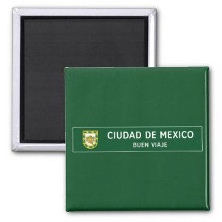 Imã Tenha uma boa viagem, sinal de tráfego, México