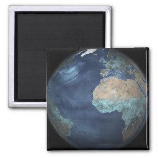 Imã Terra completa que mostra a evaporação
