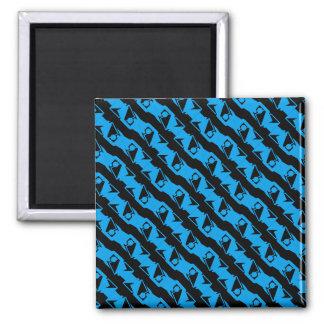 Imã Teste padrão à moda azul preto & Azure original &