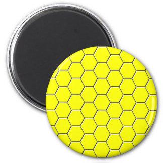 Imã Teste padrão amarelo do favo de mel