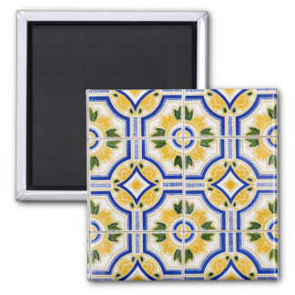 Imã Teste padrão brilhante do azulejo, Portugal