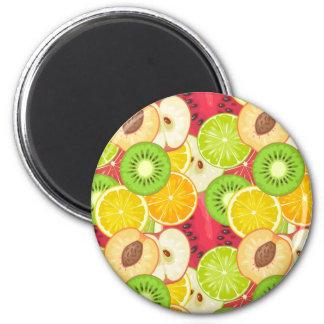 Imã Teste padrão colorido da fruta do divertimento