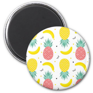 Imã Teste padrão colorido da fruta tropical