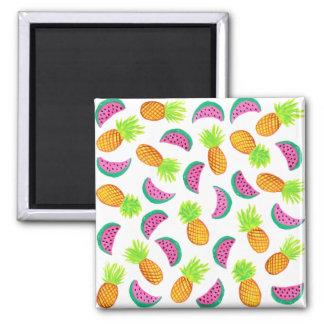 Imã teste padrão colorido da melancia do abacaxi da