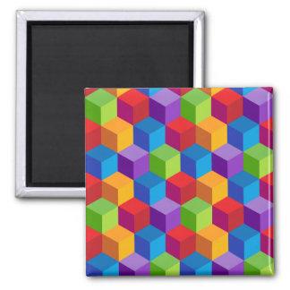 Imã Teste padrão colorido do cubo do arco-íris