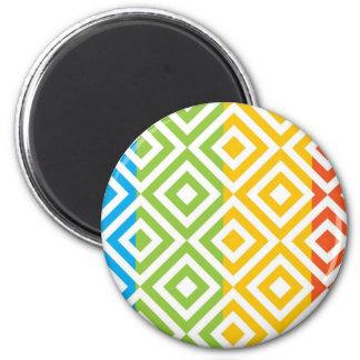 Imã Teste padrão colorido do diamante