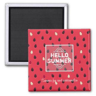 Imã Teste padrão da melancia, horas de verão  