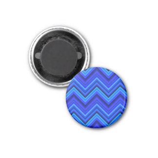 Imã Teste padrão de ziguezague das listras azuis