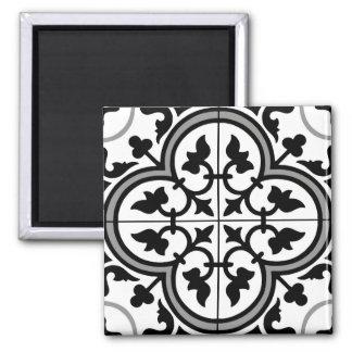 Imã Teste padrão decorativo marroquino do azulejo