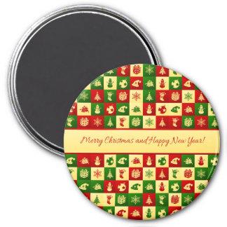 Imã Teste padrão do ano novo. Mosaico da cor. 2018.