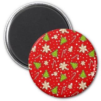 Imã Teste padrão do Natal dos biscoitos do gengibre