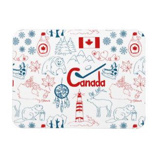 Ímã Teste padrão dos símbolos de Canadá |
