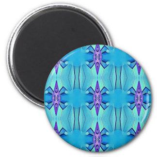 Imã Teste padrão feminino do Lilac azul Azure bonito