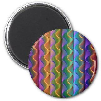 Imã Teste padrão psicadélico colorido brilhante