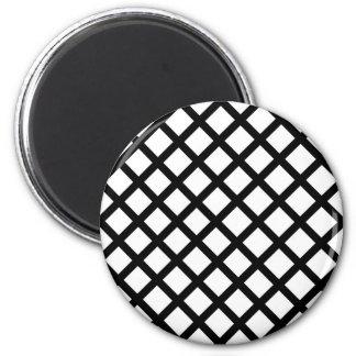 Imã Teste padrão simples preto e branco