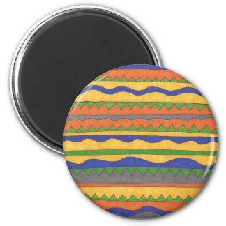 Imã Teste padrão tribal asteca colorido