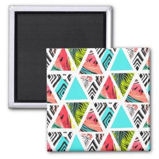 Imã Teste padrão tropical abstrato colorido