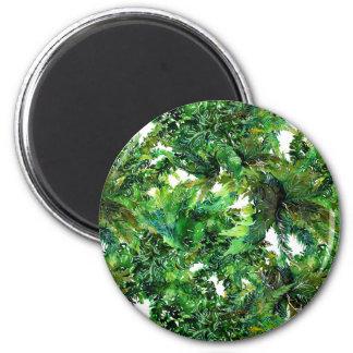 Imã Teste padrão verde da queda da floresta da