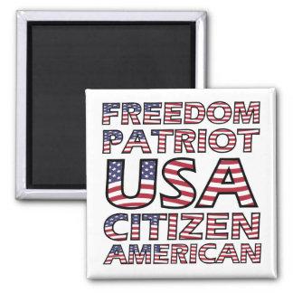 Imã Texto americano da bandeira dos E.U. do patriota