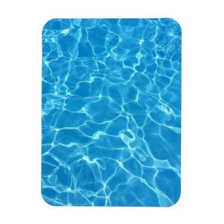 Ímã Textura da água azul