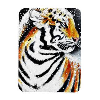 Ímã Tigre na neve noir