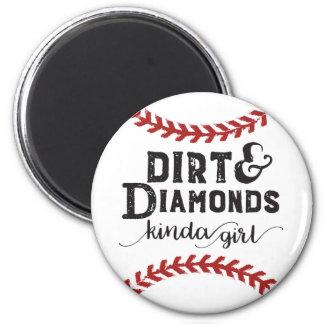 Imã Tipo da sujeira e dos diamantes do tema do