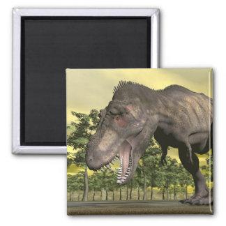 Imã Tiranossauro irritado - 3D rendem