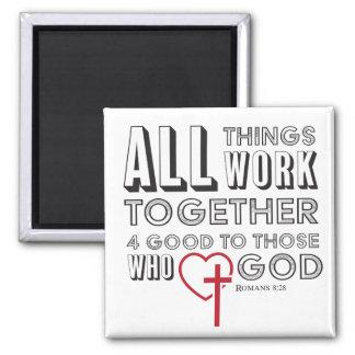Imã Todas as coisas trabalham junto 4 bons inspirados