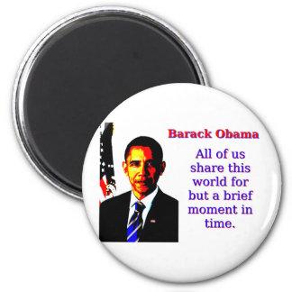 Imã Todos nós compartilham deste mundo - Barack Obama