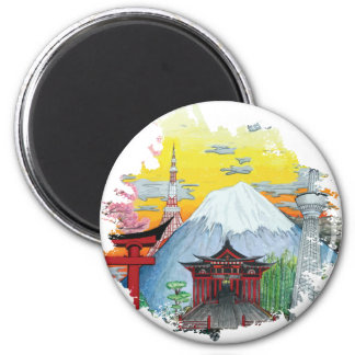 Imã Tokyo com arte do original de Monte Fuji