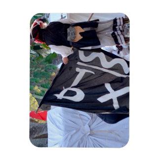Ímã tomada abaixo da imagem do poster da bandeira de