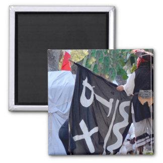 Imã tomada abaixo da imagem do poster da bandeira de