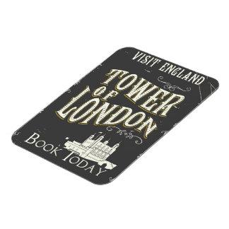 Ímã Torre do poster vintage de Londres Inglaterra