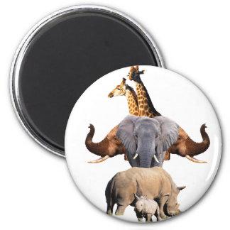 Imã Totem africano dos animais selvagens