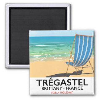 Imã Trégastel, poster das férias da praia de Brittany