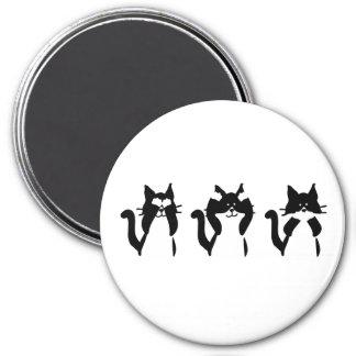 Imã Três gatinhos sábios