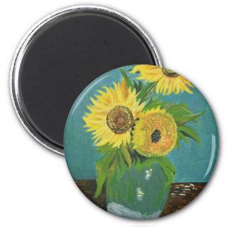 Imã Três girassóis em um vaso, Van Gogh