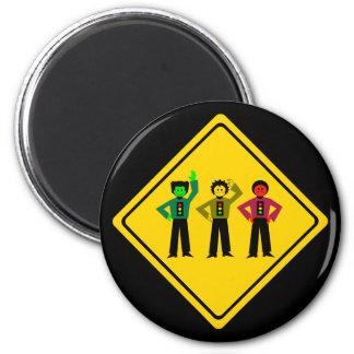 Imã Trio temperamental do sinal de trânsito adiante