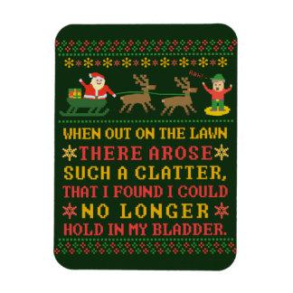 Ímã Twas engraçado a noite antes do Natal cómico