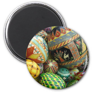 Ímã ucraniano do refrigerador dos ovos da páscoa ímã redondo 5.08cm