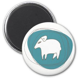 Imã Um carneiro nos ovals