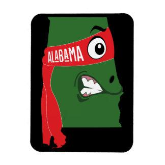 Ímã Um mapa engraçado de Alabama