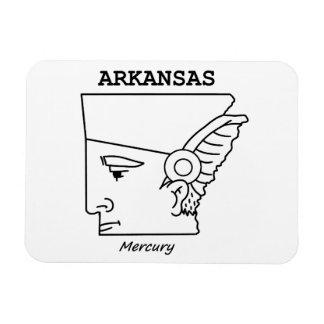 Ímã Um mapa engraçado de Arkansas