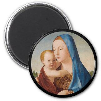 Imã Um retrato de Mary e de bebê Jesus