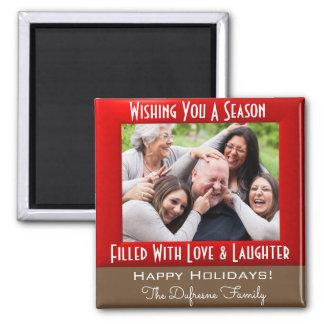 Imã Uma estação do Natal do amor & do riso