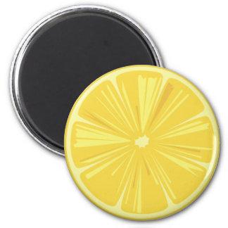 Imã Uma fatia de limão amarelo