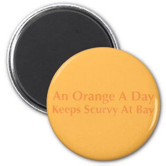 Imã Uma laranja um o dia mantem o escorbuto na baía