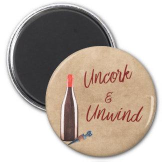 Imã Uncork & desenrole o ímã dos amantes de vinho da