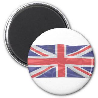 Imã Union Jack de seda de vibração
